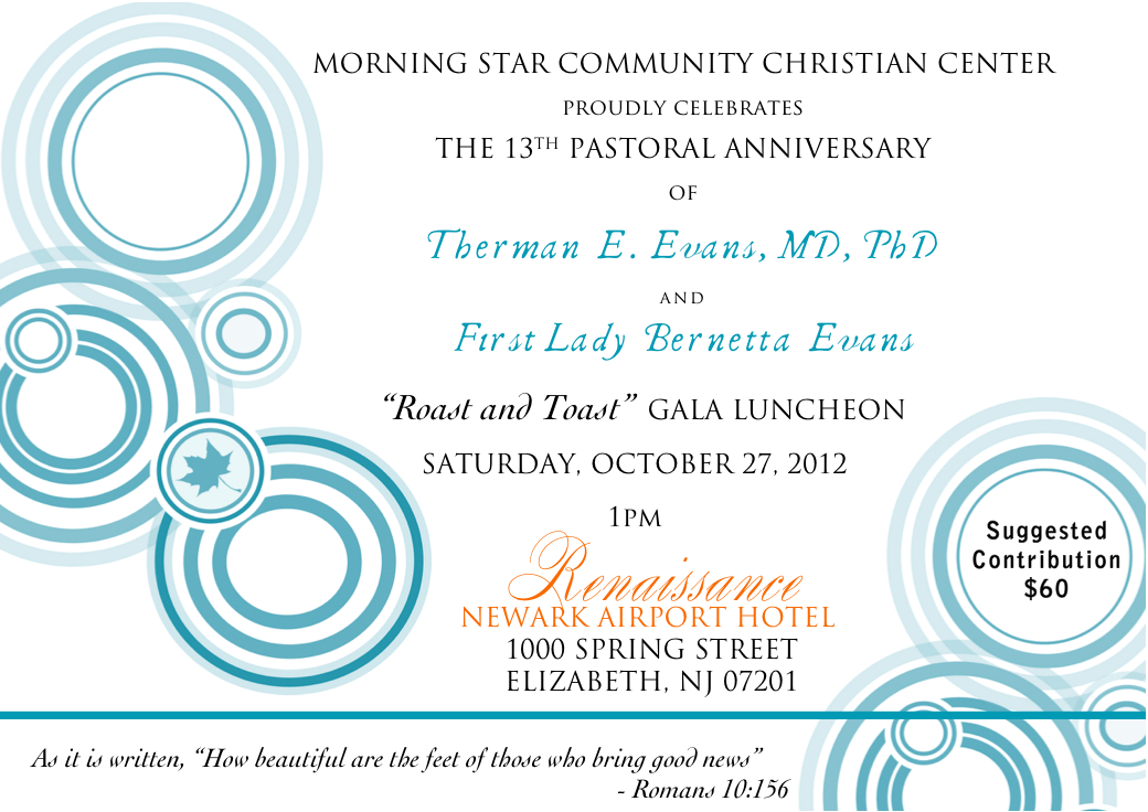 Gallery of Pastoral Anniversary Invitation Letter